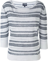 Woolrich striped knitted top - women - Linen/Flax - M