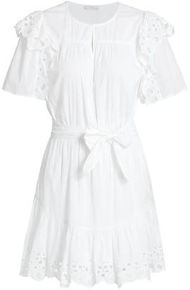 Joie Safia Eyelet Trim Mini Dress
