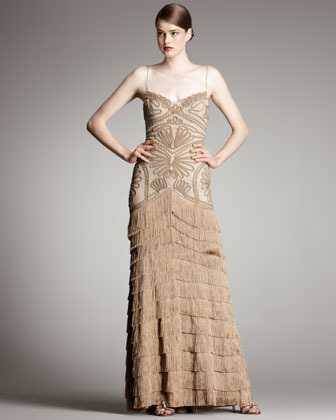 Robert Rodriguez Isabella Gown, Camel