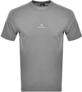 Paul Smith Logo T Shirt Grey