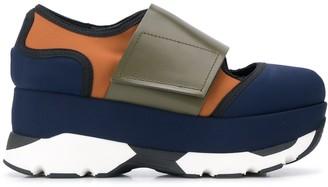 Marni Colour-Block Low-Top Flatform Sneakers