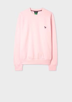 Paul Smith Women's Pink Zebra Logo Organic Cotton Sweatshirt