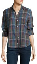 Frank And Eileen Eileen Plaid Button-Front Shirt, Blue/Orange