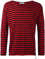 Societe Anonyme raw edge striped jumper - men - Cotton - 1