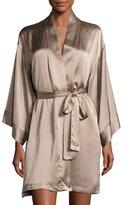 Josie Natori Silk Wrap Robe, Soft Mink