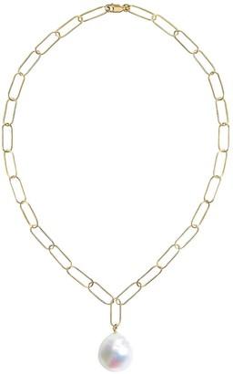 Ora Pearls Aurelia Baroque Pearl Large Link Necklace Gold