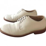 Alden White Leather Lace ups