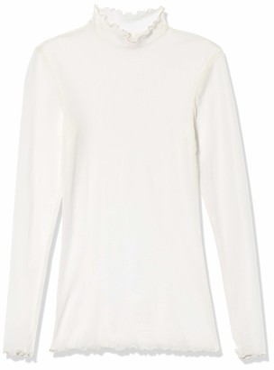 Only Hearts Women's Tulle Ruffle Mock Neck