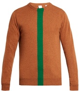 Paul Smith Green-stripe Cashmere Crew-neck Sweater