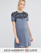 Asos Deco Embellished Mini Dress