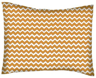 Sheetworld Twin Pillow Case - Percale Pillow Case - Gold Chevron Zigzag