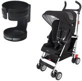 Maclaren DSE04092 BMW Stroller in Black with BMW-inspired Cup Holder by