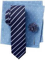 Original Penguin Thistle Stripe Tie, Pocket Square, & Lapel Pin 3-Piece Set