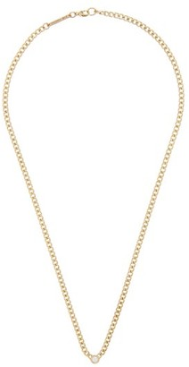 Zoë Chicco Diamond & 14kt Gold Curb-chain Necklace - Gold