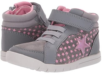 Clarks Emery Beat (Toddler) (Grey Leather) Boy's Shoes