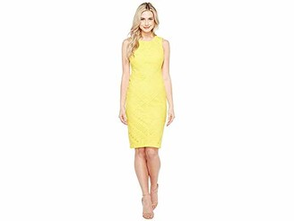 Maggy London Women's Ribbon Eyelet Sheath Dress