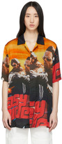 Marcelo Burlon County of Milan Multicolor Satin Easy Rider Shirt