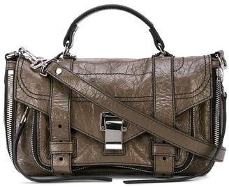 Proenza Schouler Ps1+ Tiny Zip-Metallic Leather