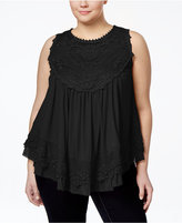 American Rag Plus Size Crochet Swing Top, Only at Macy's
