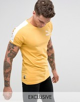 Puma Muscle Fit T-Shirt In Yellow Exclusive To ASOS