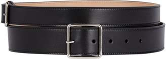 Alexander McQueen Leather Double Buckle Belt