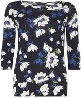 Dorothy Perkins Navy Floral Print T-Shirt