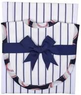 3 Marthas Pinstripe Baseball Drooler Set