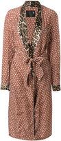 R 13 belted floral coat
