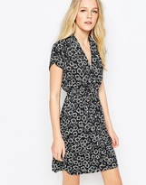 French Connection Jersey Tea Dress In Eddy Floral