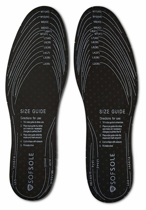 Sof Sole Insoles Trim-to-Fit Deodorizing Shoe Inserts (3 Pairs) grey OneSize