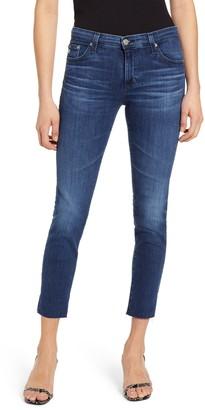 AG Jeans Prima Low Rise Raw Hem Crop Jeans