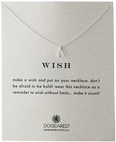 "Dogeared Reminder"" Wishbone Silver Chain Necklace, 16"""