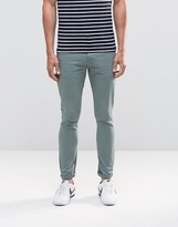 Asos Super Skinny Jeans In Light Blue