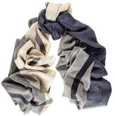 Black Mayfair Merino Wool and Silk Scarf