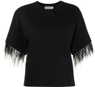 Essentiel Antwerp feather trim T-shirt