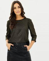 Dorothy Perkins Jennifer Foil Mutton Sleeve Top