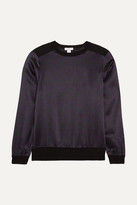 Eres Vibe Cashmere And Printed Silk-satin Pajama Top - Black