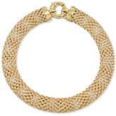 Macy's Wide Textured Mesh Bracelet in 14k Gold