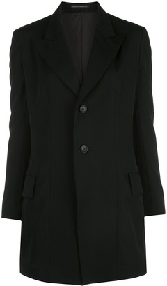 Yohji Yamamoto Single Breasted Long Blazer