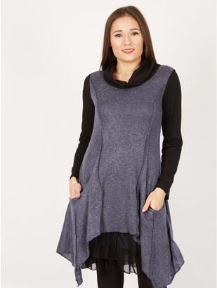 M&Co Izabel long sleeved overlay tunic dress