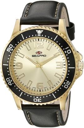 Seapro Men's SP5315 Analog Display Quartz Black Watch