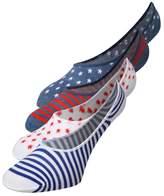 Converse 2 Pack Trainer Socks White/denim