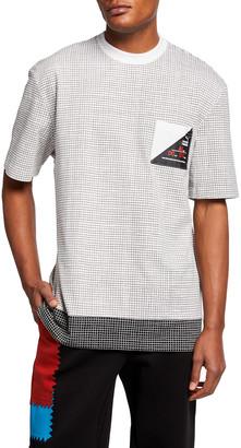Puma Men's x Michael Lau Allover Notebook Grid Print T-Shirt