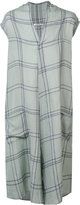 Denis Colomb check print tunic - men - Linen/Flax/Cashmere - L