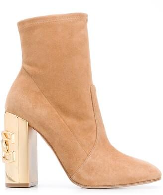 Casadei Metallic Heel Boots