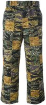 Palm Angels camouflage lose-fit trousers