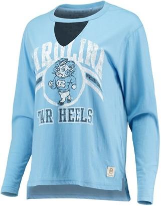 Women's Pressbox Carolina Blue North Carolina Tar Heels Scout Choker Long Sleeve T-Shirt