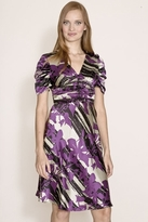 Corey Lynn Calter Lianne Ruched Dress in Purple