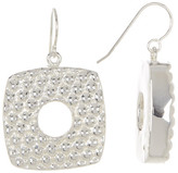 Simon Sebbag Sterling Silver Square Cut Drop Earrings