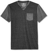 American Rag Men's Colorblocked Split-Neck Pocket T-Shirt, Only at Macy's